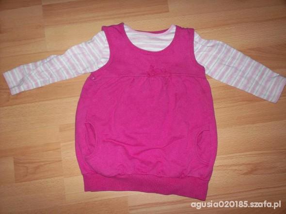 Komplety śliczny komplet sukienka plus bluzka rozm92
