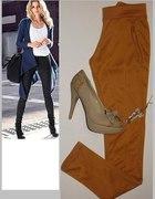 ITALY spodnie TREGGINSY Xs S M L XL miodowe