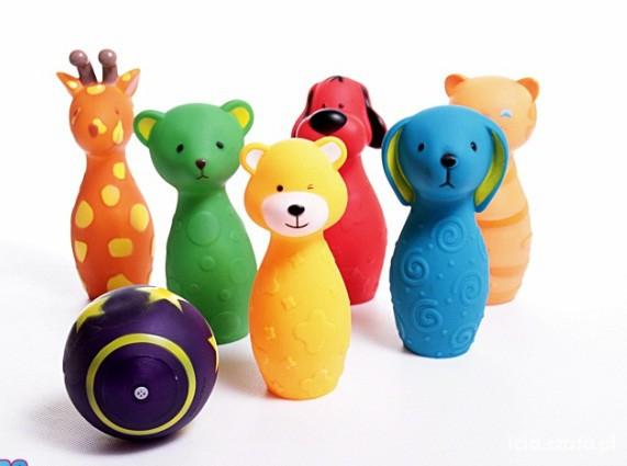 Zabawki Kręgle zwierzątka kolorowe dla dzieci bowling