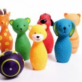 Kręgle zwierzątka kolorowe dla dzieci bowling