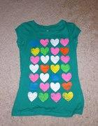 Tshirt zielony serca Terranova S