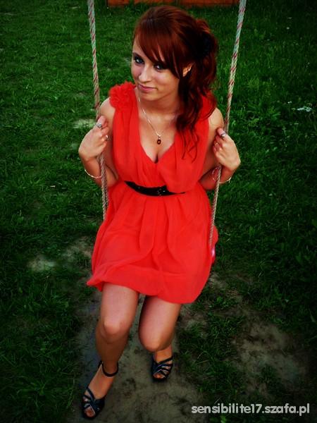 Mój styl Arbuzowa sukienka