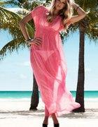 Długa sukienkatunika na plażę