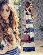 maxi dress with mini & maxi stripes