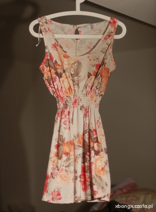 sukienka NEW LOOK 38 36 floral retro
