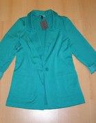 szmaragdowy blazer H&M