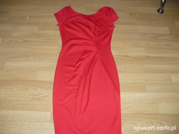 Suknie i sukienki Śliczna z kokardą na ramieniu