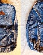 marmurkowy jeansowy plecak
