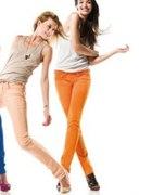 Spodnie w kolorach tęczy