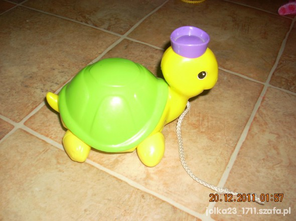 Zabawki żółw do ciagniecia za sznureczek