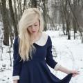 white collar dress