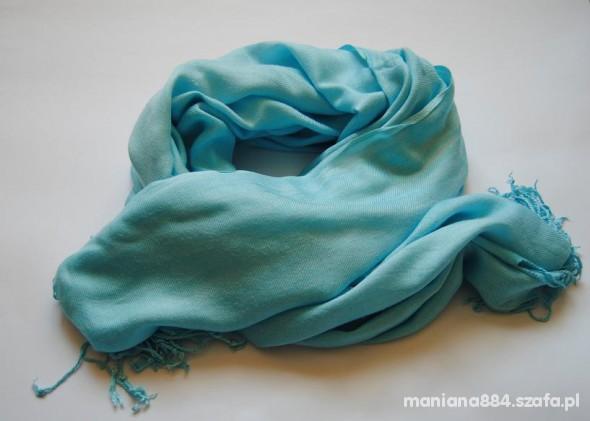 Chusty i apaszki Chusta Błękitna Niebieska Szalik