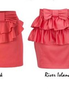 River Island spódniczka kokarda kokardka spódnica