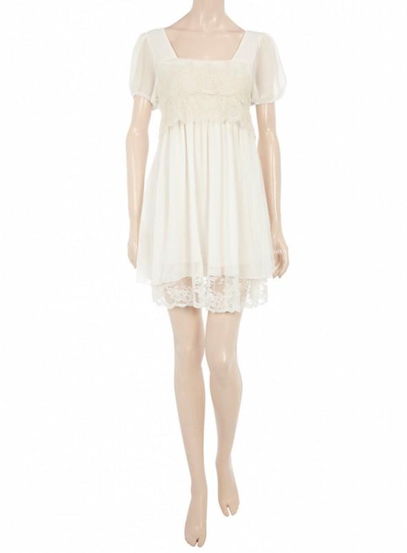Sukienka koronkowa biała...