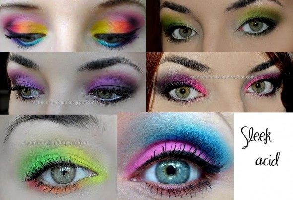 Kolorowe makijaże