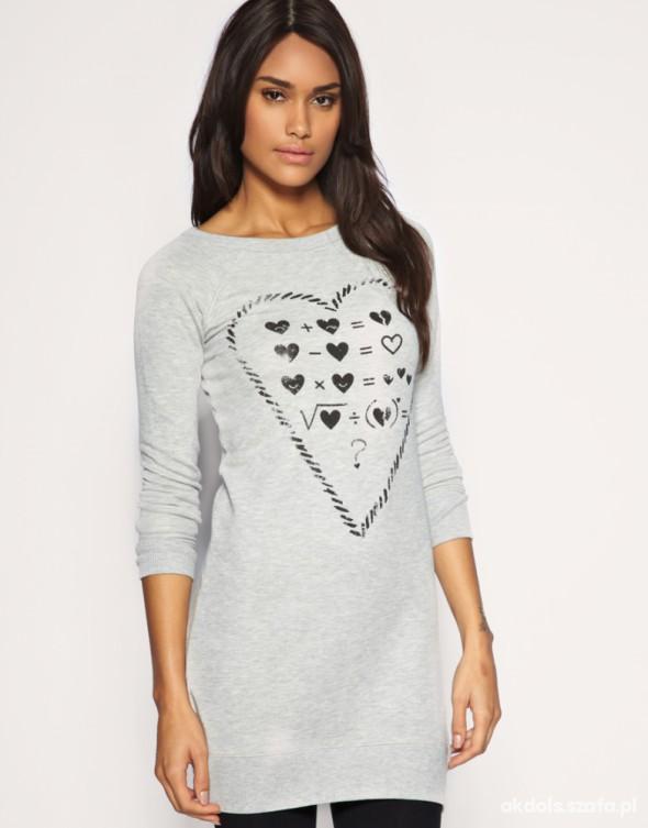 Szara bluza Asos z sercem