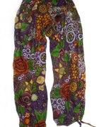 Spodnie szarawary alladynki wzorzyste
