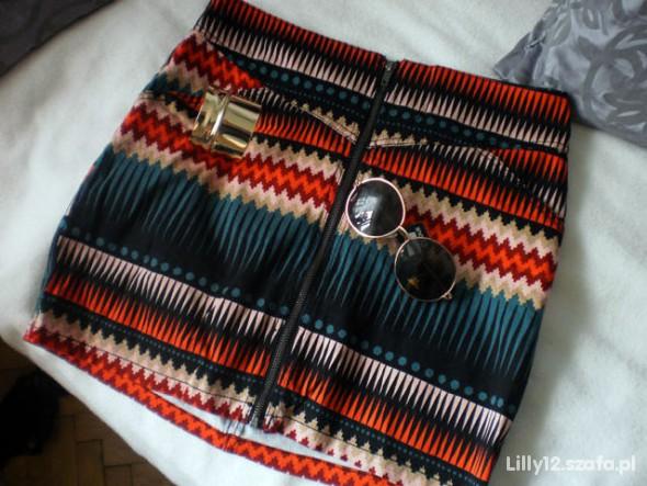 spódniczka azteckie wzory H&M