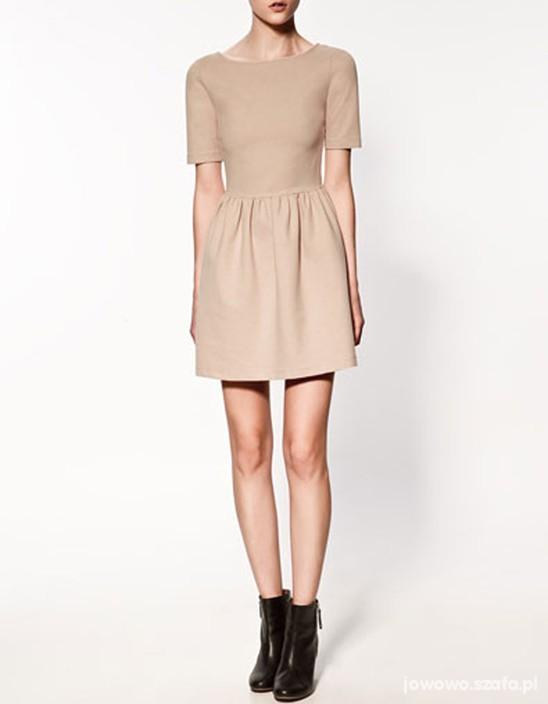 Suknie i sukienki PUDROWA SUKIENKA ZARA