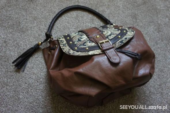 ATMOSPHERE duża torba KARMELOWA