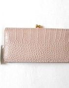pojemny portfel blado różowy nowy