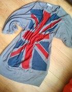 Tunika sweterek oversize z flaga