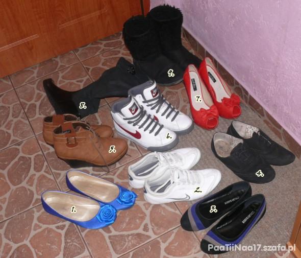 Sportowe Moje butki najróżniejsze