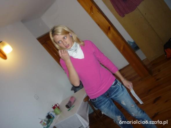 Do szkoły różowa koszula z zestawem na luzie