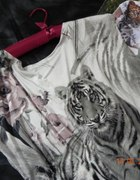 Piękna włoska tunika tygrys