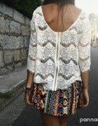 koronkowa tunika bluzka