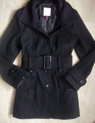 płaszcz czarny flausz orsay 36 38
