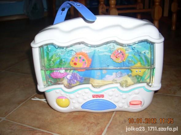 Zabawki Muzyczne akwarium pozytywka rybki fisher price