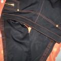 MARKOWE spodnie stan na 6 czarne z przeszyciami