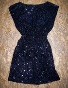 Sukienka H&M cekinowa czarna