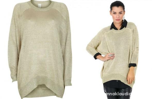 Ubrania swetrek dziargany sweter vila oversize ażurkowy