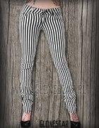 Spodnie w Paski czarno białe
