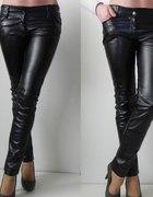 Włoskie skórzane spodnie S mat