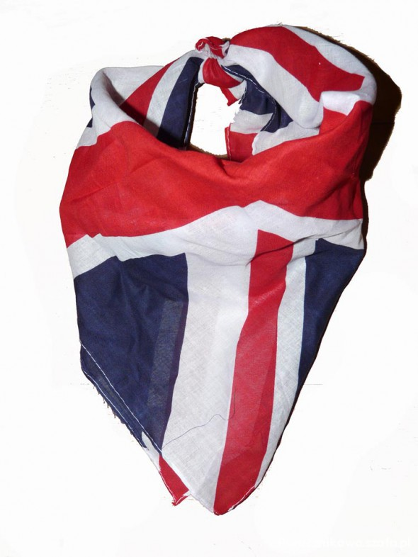 Chusty i apaszki Bandamka bandana pin up rockabilly UK flaga
