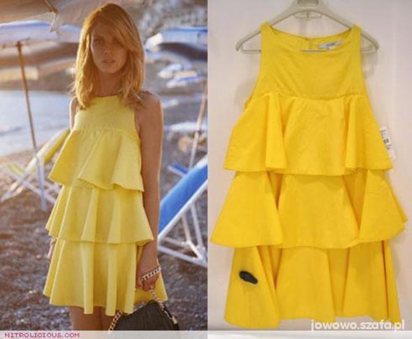 Suknie i sukienki Nowy cytrynowy nabytek od ZARA