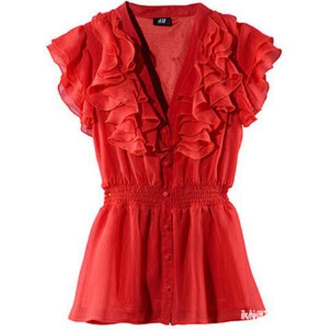 Czerwona bluzka h&m