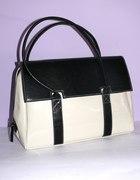 czarno biała torebka A4
