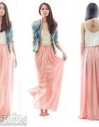 Spódnica long pastelowa