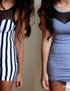 Szara sukienka H&M z siateczką