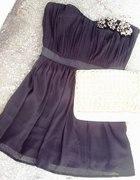 Black TOPSHOP Embellished Bandeau Dress...