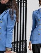 Marynarka H&M blazer złote guziki inspiracja