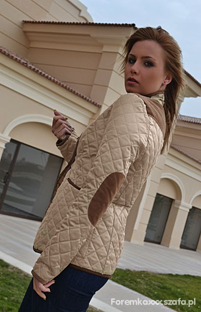 Odzież wierzchnia Pikowana kurtka z łatami model ZARA