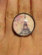 PIERŚCIONEK PARIS stare złoto