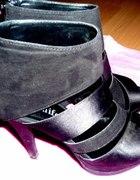 Jennifer&Jennifer platformy sandałki czarne...