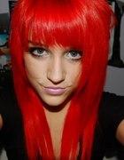 czerwone włosy...