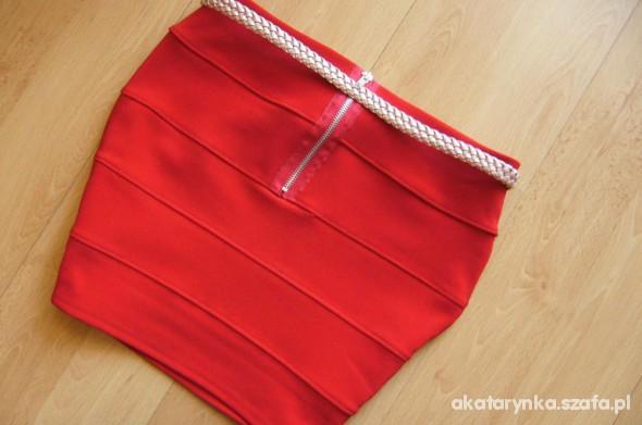 Spódnice spodniczka bandazowa zip czerwona